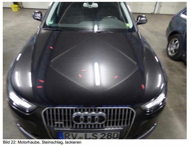 Beschadigingen op Audi A4
