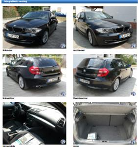 foto's import auto uit aankoopkeuring